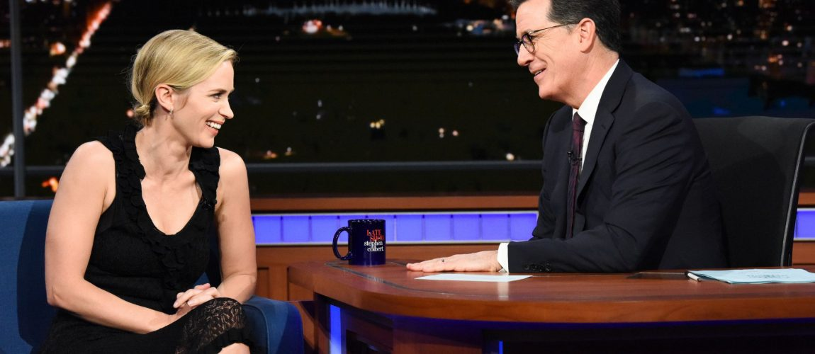 'The Late Show with Stephen Colbert' Interview + Stills & Screencaptures