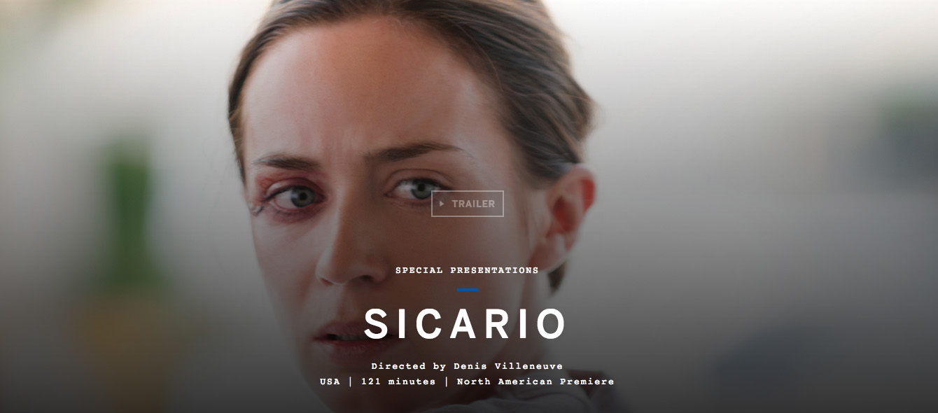 """Sicario"" Selected For TIFF 2015!"