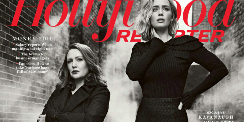 Emily Blunt and Paula Hawkins featured on The Hollywood Reporter