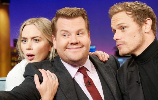 Emily Blunt visits Late Late Show with James Corden (Photos + Videos)