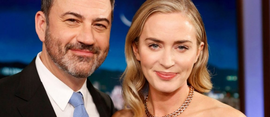 Emily Blunt visits Jimmy Kimmel Live (Photos + Videos)